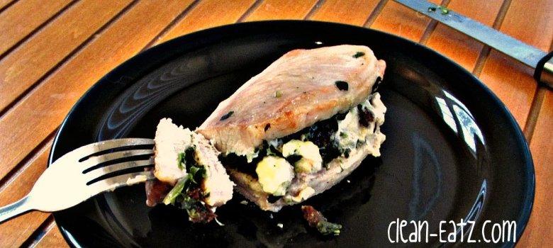 Paleo Pork Chop and Feta Skillet