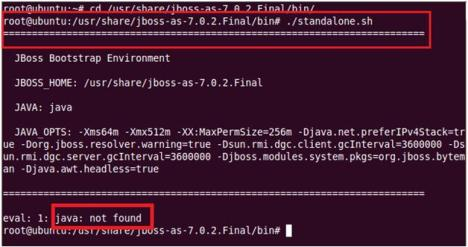 Java not Found Error in JBoss installation
