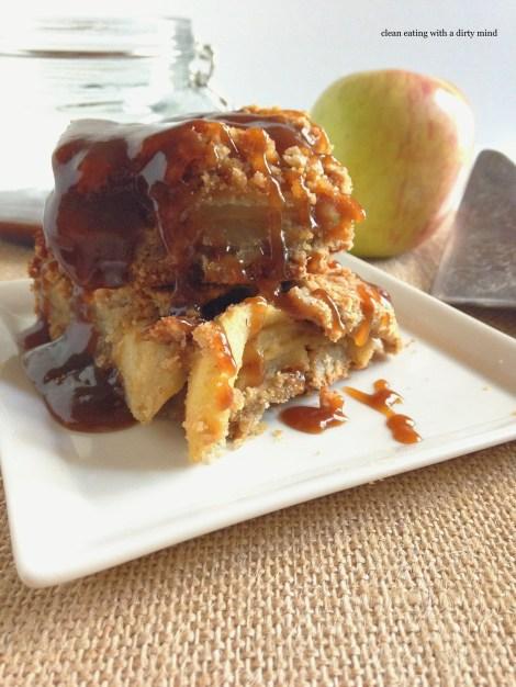 Paleo Caramel Apple Pie Bars