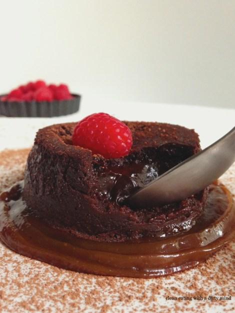 Paleo Chocolate Molten Lava Cake
