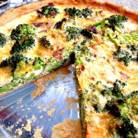 Broccoli Cheddar Quiche Recipe