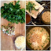 Ramp Risotto with Pine Nuts