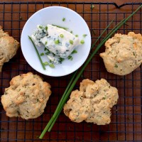 Blue Cheese & Chive Drop Biscuits