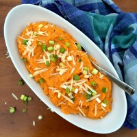 Savory Parmesan Mashed Sweet Potato Recipe