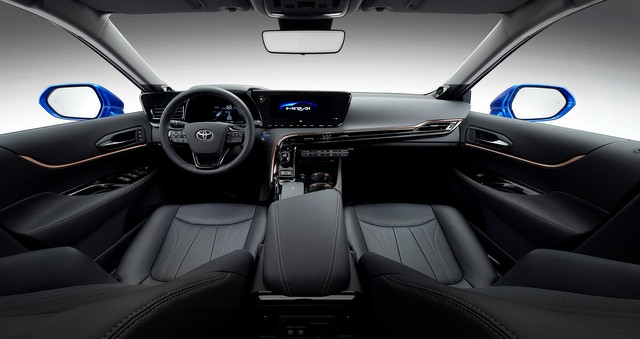 2021 Toyota Mirai fuel cell electric vehicle interior
