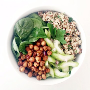 roasted chickpea super grain bowl // clean food dirty city