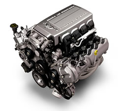 The engine of a 2005 Ford Mustang weighs 75 pounds.
