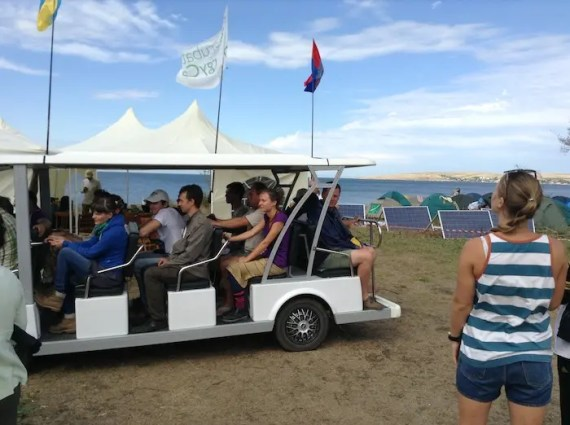 EV shuttle sustainability summit crimea