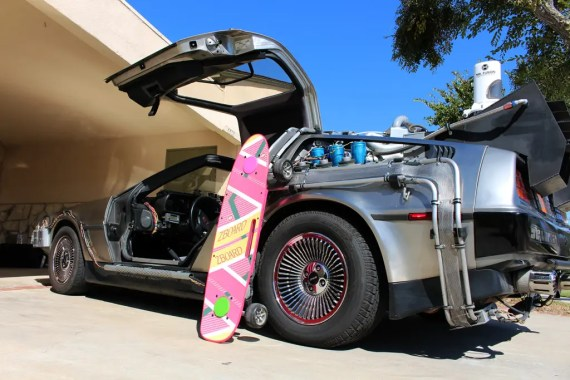 hoverboard delorean