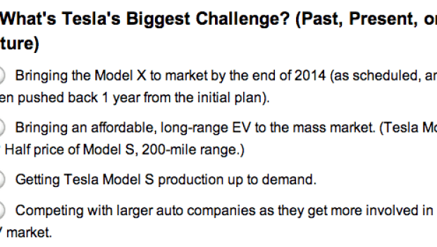 tesla biggest challenge survey
