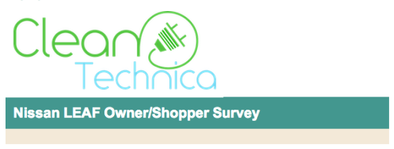 CleanTechnica Nissan LEAF shopper survey