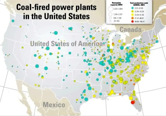 US coal plants (powermag.com)