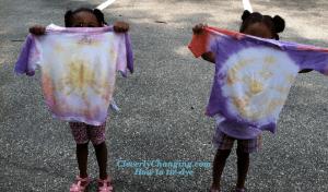 Kids Activity Tie-dye Shirts