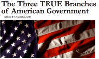 The Three TRUE Branches of American Gov Graphic