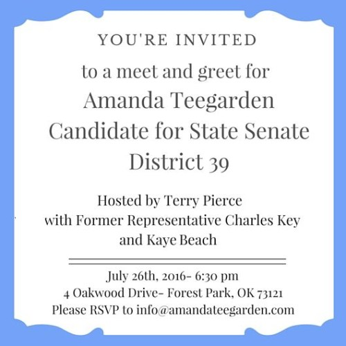 Meet and Greet for Amanda Teegarden on July 26th — You are Invited!
