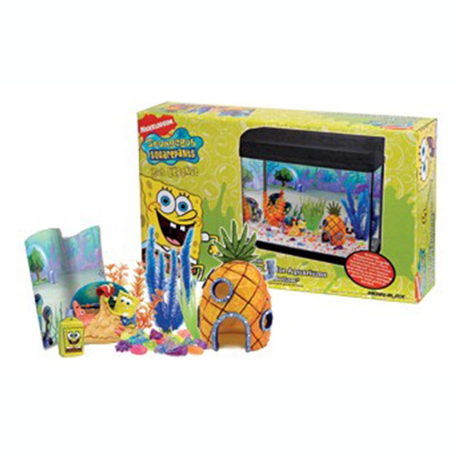 Fish tank decorations spongebob recap america s family for Spongebob fish tank