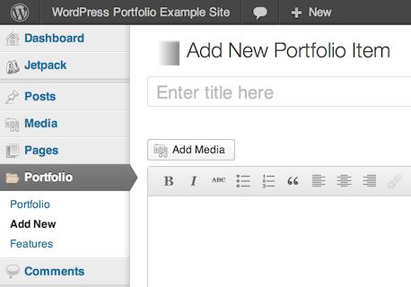 Portfolio plugins will add a new top-level menu to your WordPress dashboard