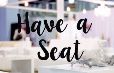 #WeddingCentral – Have a Seat!