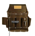 6 Pocket Leather Electricians Pouch