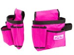 Pink Canvas Tool Pouches (2 piece set)