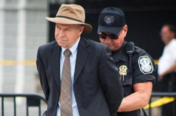 Hansen getting arrested at climate protest
