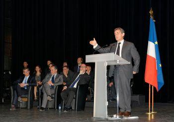 Nicolas Sarkozy at rally.