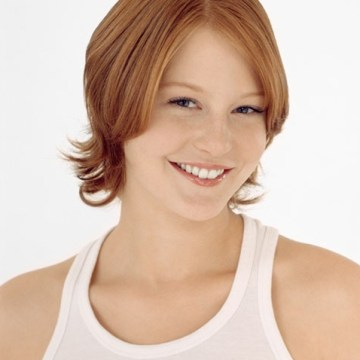 Young red-headed woman