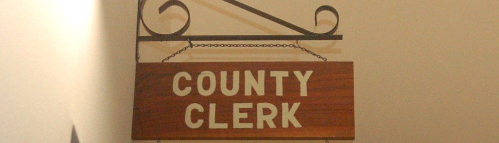 Clinton County Clerk Sign