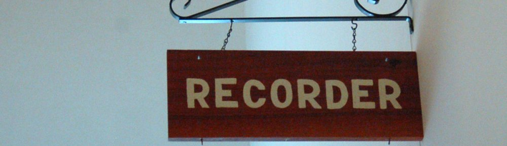 Clinton County Recorder Sign