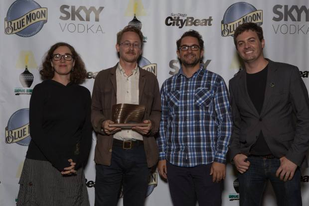 G Burns Jug Band takes home a San Diego Music Award in 2015