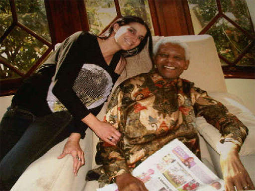 Candice and Nelson Mandela