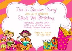 Small Of Slumber Party Invitations