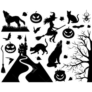 Seemly Clip Arts Related To Furniture Halloween Window Silhouettes Little