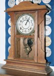 Ingraham Oak Shelf Clock