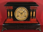 Seth Thomas Red & Black Adamantine Mantel Clock