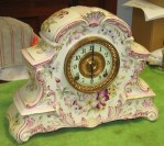 Ansonia Porcelain Cased Mantel Clock