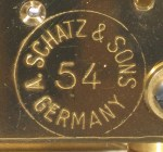 Schatz Standard 400 Day Clock with 54 Instead of 49 in Circle on the Back
