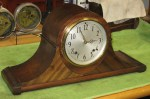 1939 Plymouth (by Seth Thomas) Tambour Mantel Clock with Quarter Hour Strike