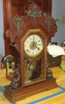 "Seth Thomas ""Metals No. 1"" Oak Kitchen Clock Dated 1899"