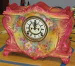 "Ansonia ""La Vinda"" Royal Bonn China Clock"