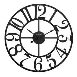 Grand Gabriel Oversize Wall Clock Bulova Wrought Iron Metal Star Shaped Wall Clocks