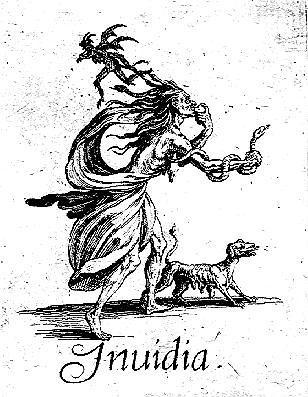 Envidia representada por Jacques Callot