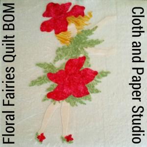 Floral Fairies Quilt BOM Block 1