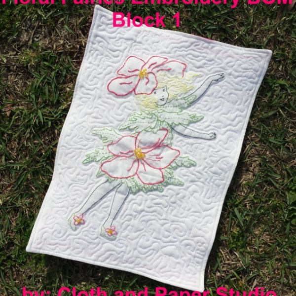 Floral Fairies Embroidery BOM block 1