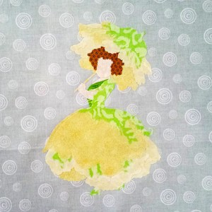 Floral Fairies Applique Block 4