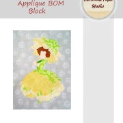 Floral Fairies Applique BOM Block 4