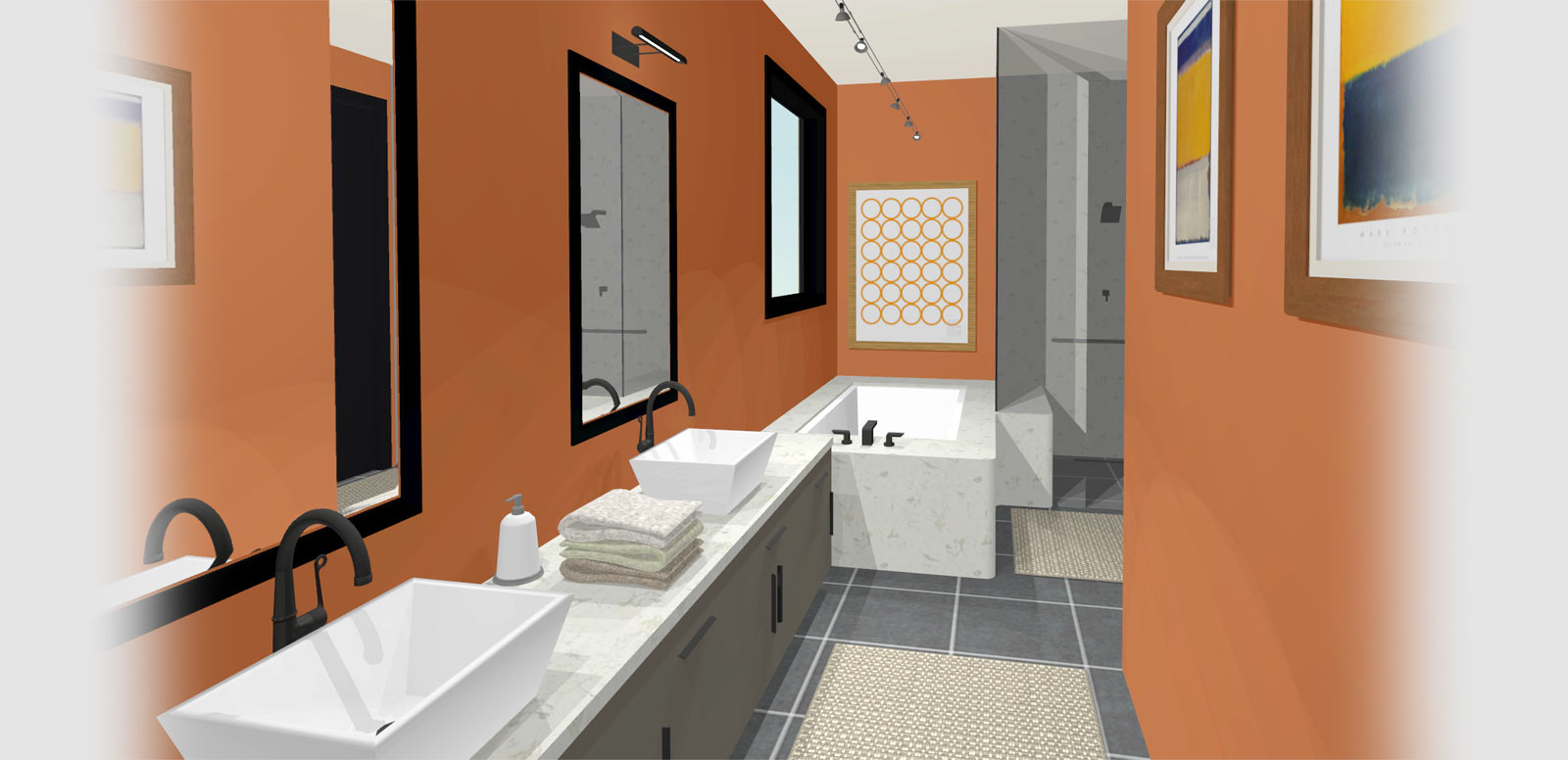 kitchen bath kitchen and bath design Master bath with multiple sinks and a marble bath