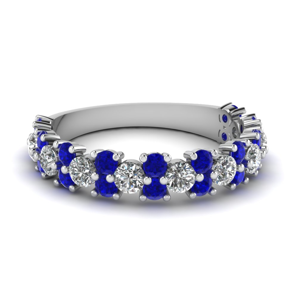 sapphire wedding band Rings