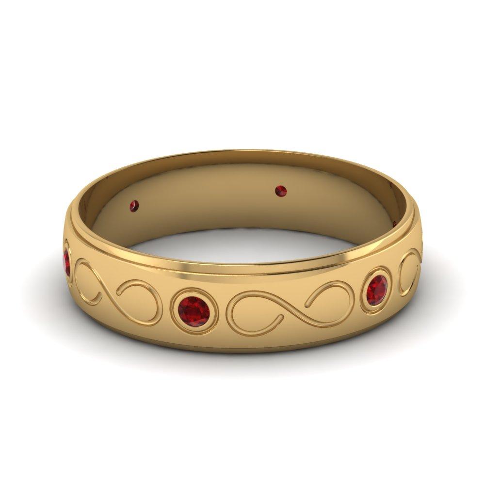 Prong Set Sapphire Wedding Band sapphire wedding band 1 00 Ct Round Cut Diamond And Blue Sapphire Wedding Band Ring