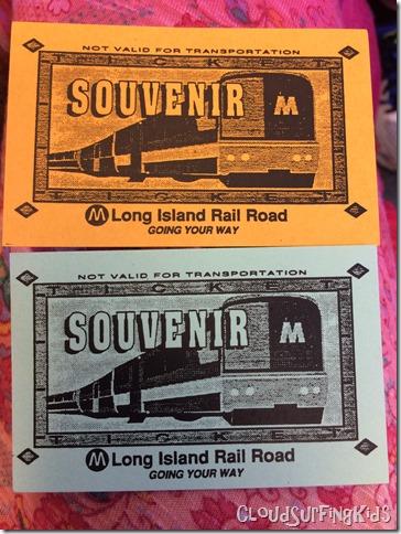 LIRR Souvenier Tickets
